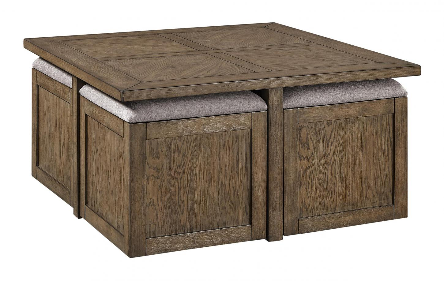 Terrace Point Cocktail Nesting Table / With Stools I221